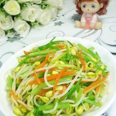 芹菜炒黄豆芽的做法步骤