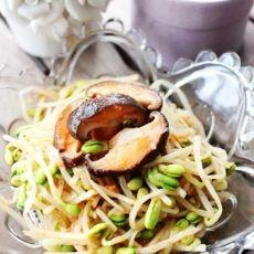 凉拌香菇黄豆芽的做法步骤