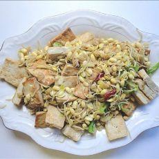 黄豆芽炒豆腐的做法步骤