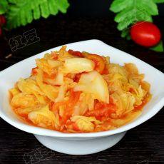 西红柿炒包菜的做法步骤
